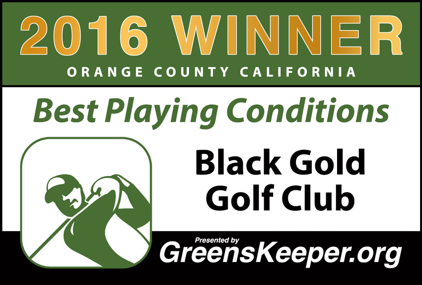 2016 Best Playing Conditions for Orange County - Black Gold Golf Club