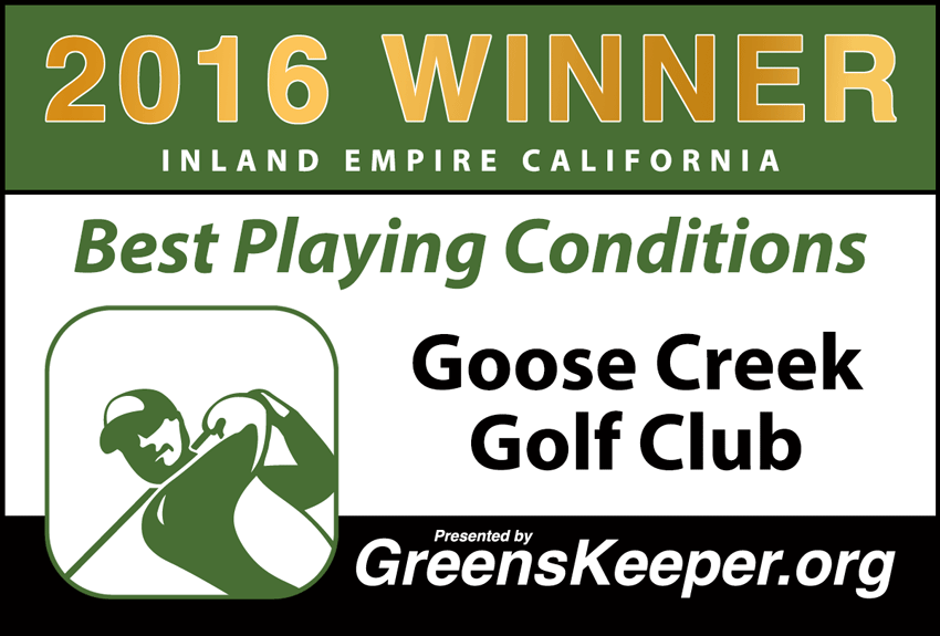 2016 Best Playing Conditions for Inland Empire - Goose Creek Golf Club