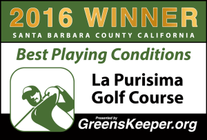 2016 Best Playing Conditions for Santa Barbara County - La Purisima Golf Course