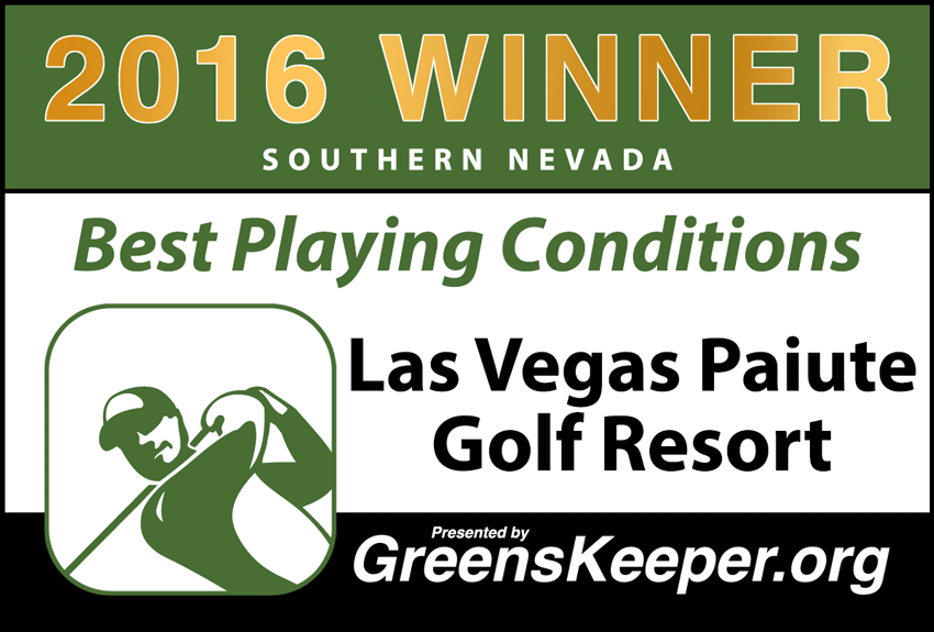 2016 Best Playing Conditions for Southern Nevada - Las Vegas Paiute Golf Resort