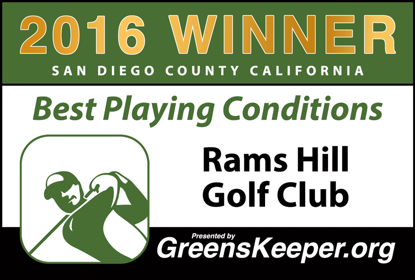 2016 Best Playing Conditions for San Diego County - Rams Hill Golf Club