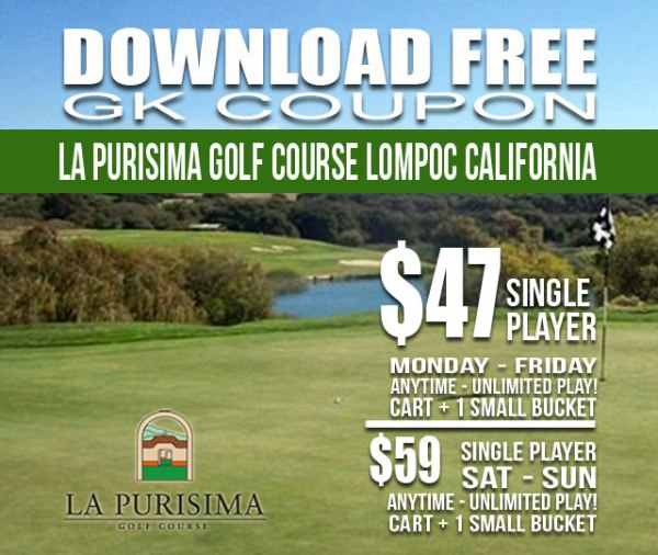 La Purisima Golf Course Lompoc California GK Coupon Tee Time Special