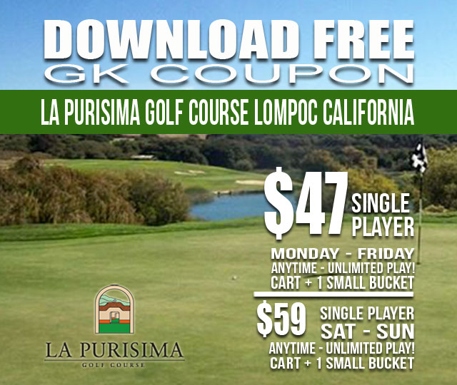 La Purisima Golf Course GK Coupon