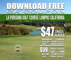 La Purisima Golf Course Lompoc California GK Coupon Tee Time Special