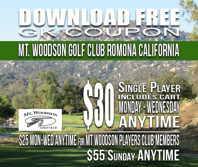 Mt. Woodson Golf Club Ramona California GK Coupon & Golf Tee Time Special