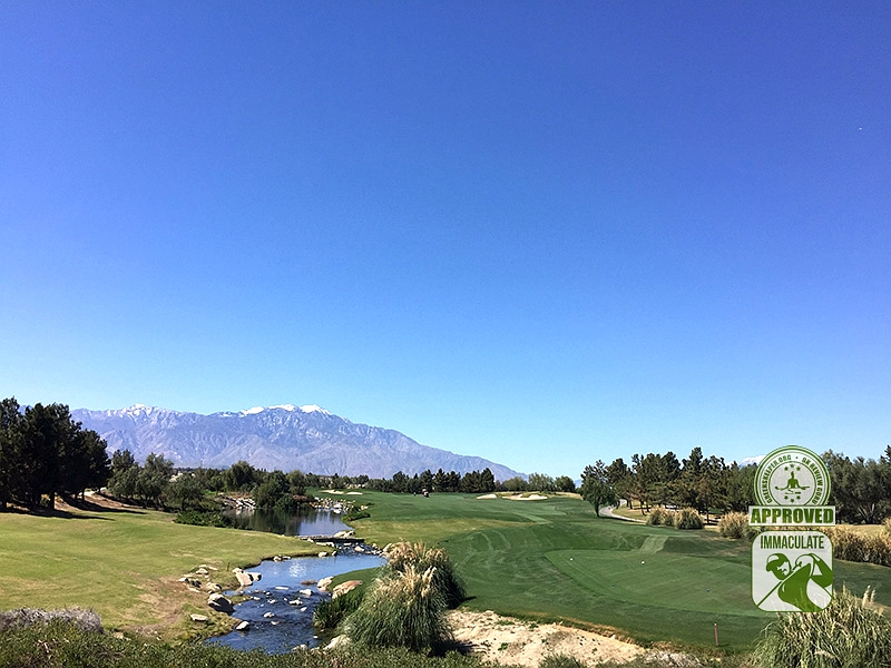 Classic Club Palm Desert California GK Review Guru Visit Hole 1.  Conditions were immaculate!