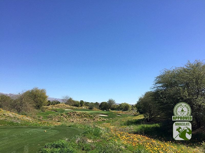Eagle Falls Golf Course Indio California GK Review Guru Visit Hole 6
