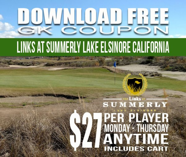 Links at Summerly Lake Elsinore California GK Coupon & Golf Tee Time Special