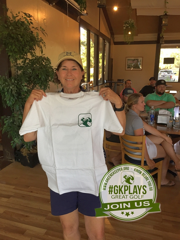 Boulder Oaks Golf Club Escondido California Congrats newcomer Becky with GK T-Shirt