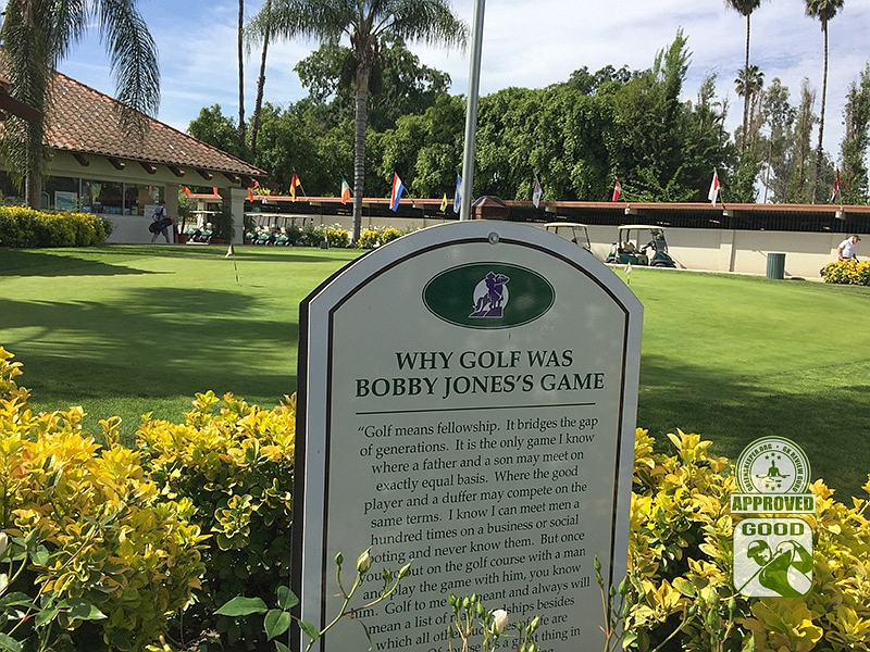 Los Serranos Country Club Chino Hills California - Bobby Jones Marker
