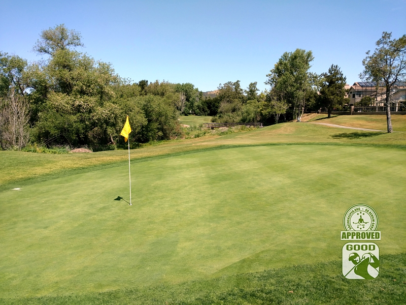 Twin Oaks Golf Course San Marcos California Hole 3 Green-side