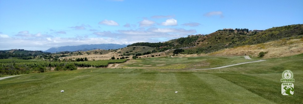 CrossCreek Golf Club Temecula California GK Review Guru Visit - Hole 7 offers some panoramic views