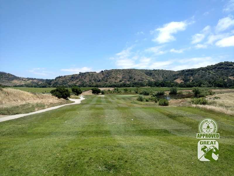 CrossCreek Golf Club Temecula California GK Review Guru Visit - Hole 8 Tee Box
