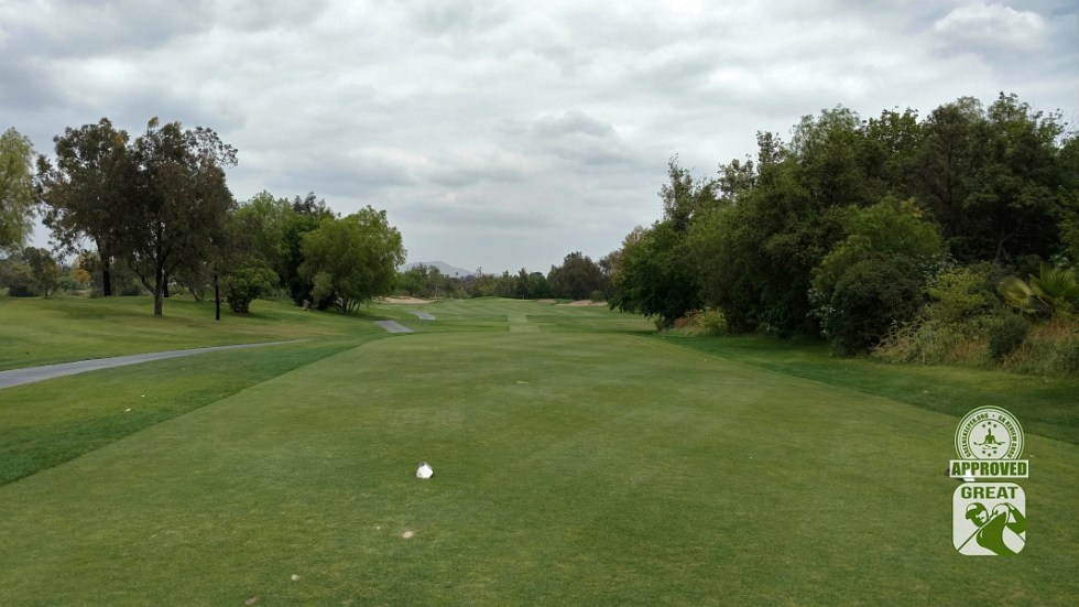 Goose Creek Golf Club Mira Loma California GK Review Guru Visit - Hole 1 view from Tee Box