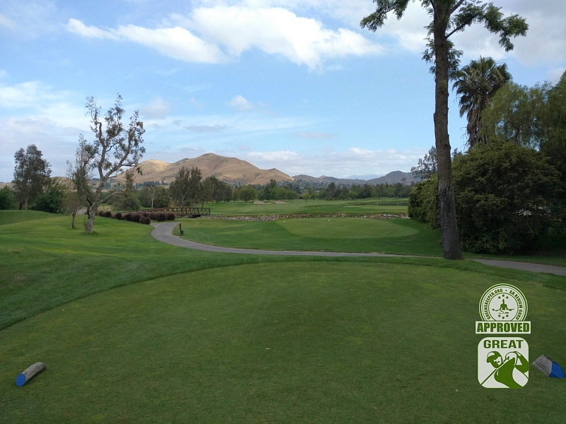 Goose Creek Golf Club Mira Loma California GK Review Guru Visit - Hole 18 view from Tee Box