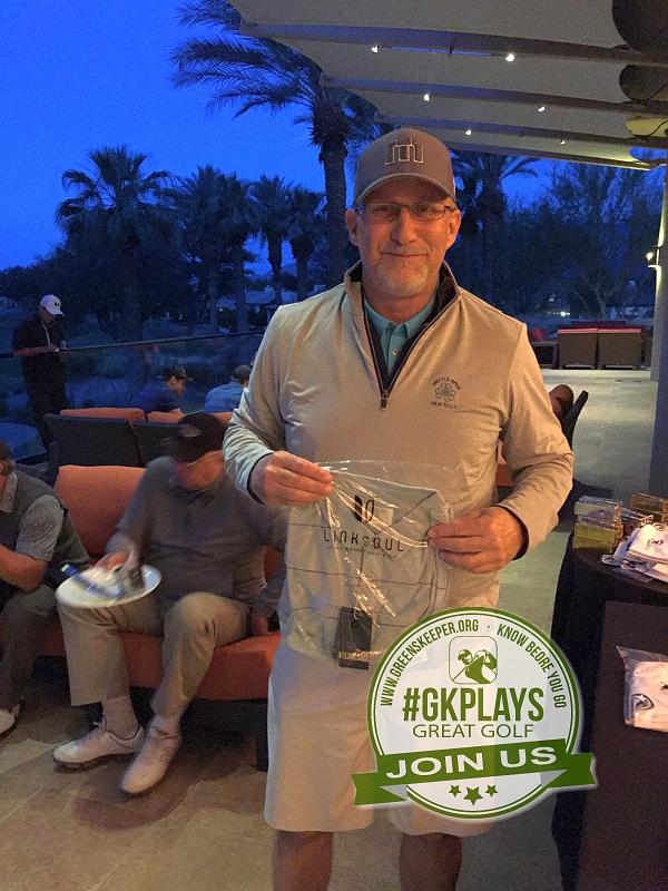 PGA West Nicklaus Tournament La Quinta California jjrauren shows off his LINKSOUL swag