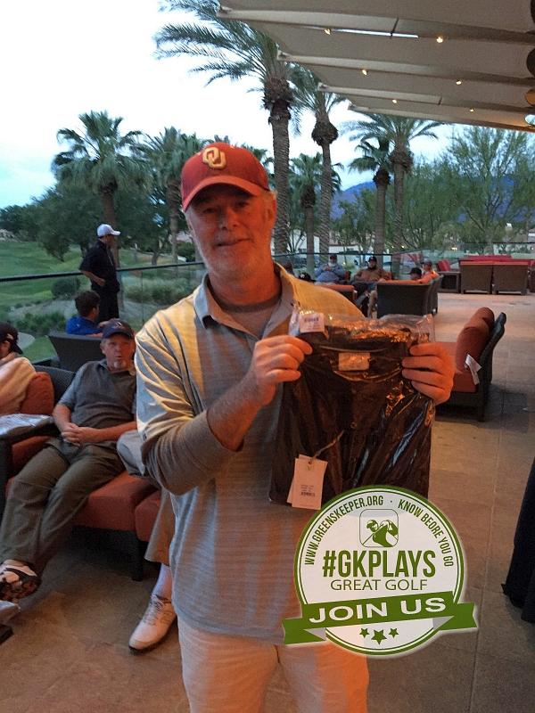 PGA West Nicklaus Tournament La Quinta California not last, robule shows off his LINKSOUL gear