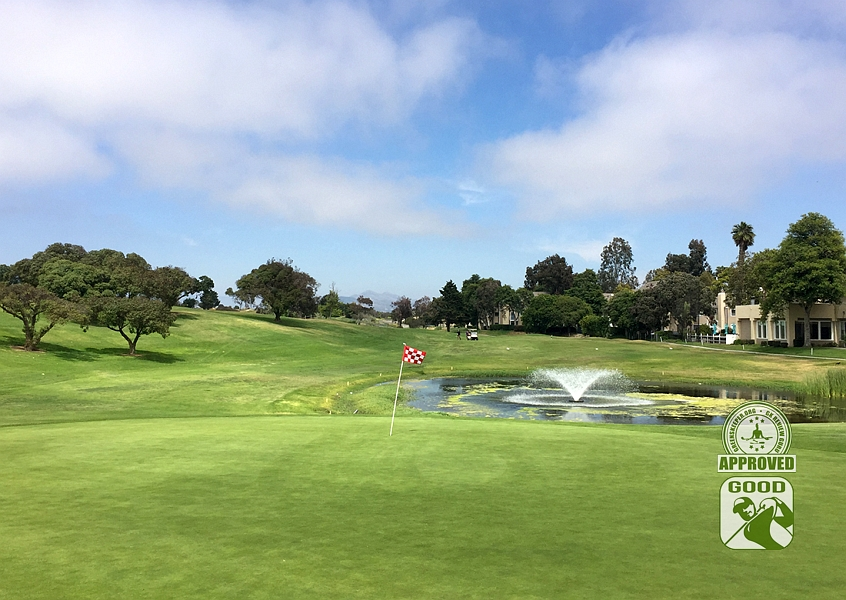 River Ridge Golf Course VINEYARD Oxnard California, GK Review Guru - Hole 13