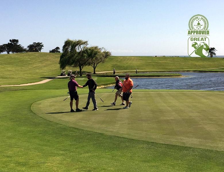 Sandpiper Golf Course Goleta California GK Review Guru Visit - The Handshake at Hole 18