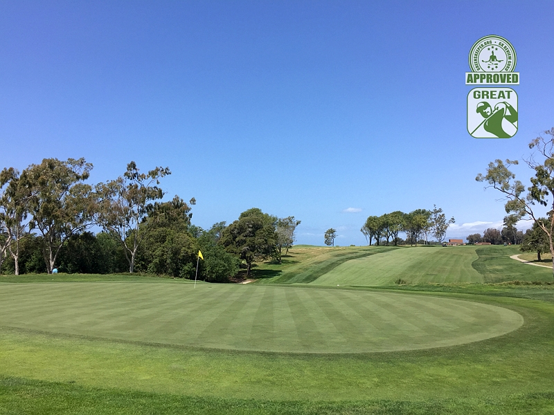 Sandpiper Golf Course Goleta California GK Review Guru Visit - Hole 1 Green-side