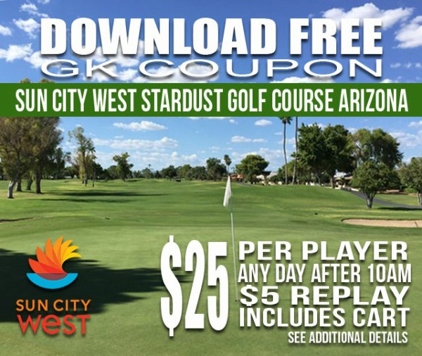 Sun City West Stardust Golf Course Arizona GK Coupon