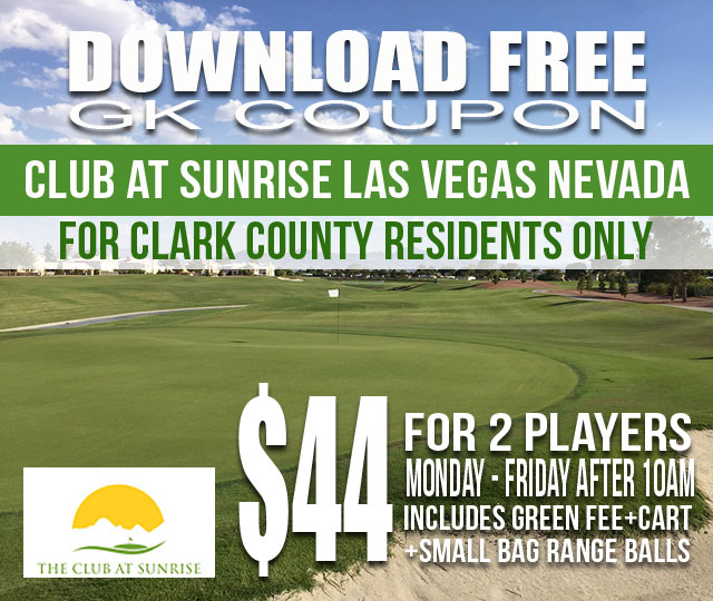 Club at Sunrise Clark County Resident Las Vegas Nevada GK Coupon