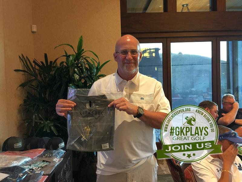 Yocha Dehe Golf Club Brooks CA John Rauen shows off his LINKSOUL SWAG
