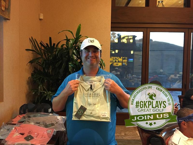 Yocha Dehe Golf Club Brooks CA Keith Lindsey shows off his LINKSOUL SWAG