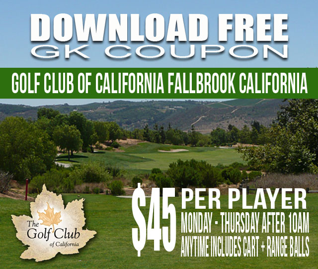 Golf Club of California Fallbrook GK Coupon