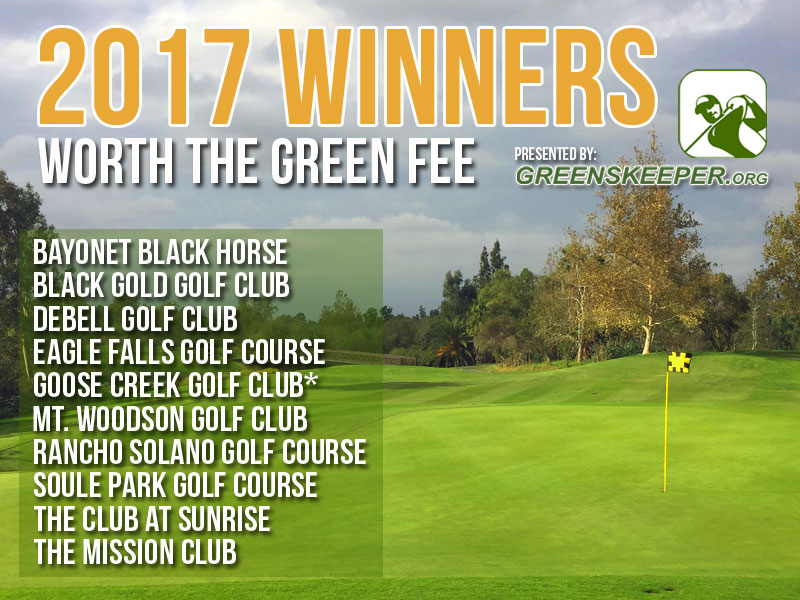 Greenskeeper.Org Awards Top Golf Courses Worth the Green Fee 2017