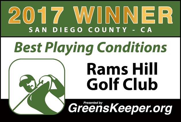 Best Playing Conditions 2017 Rams Hill Golf Course - San Diego County