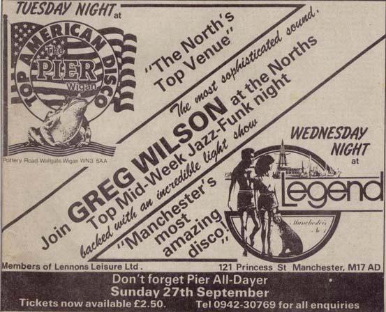 Legend Manchester S Other Club Greg Wilson