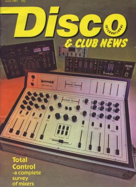 Matamp Super Nova Mixer on the cover of Disco & Club News magazine June 1981