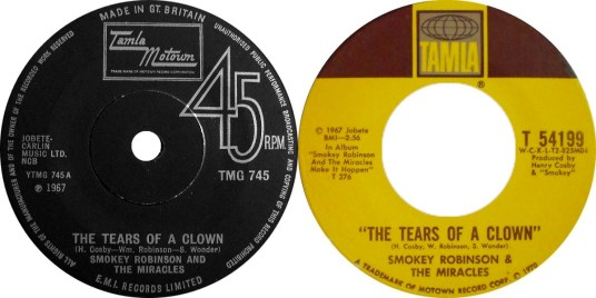 Smokey Robinson & The Miracles 'Tears Of A Clown'