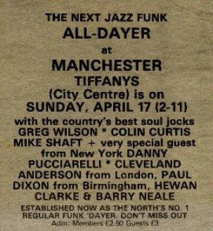 Tiffany's All-Dayer Manchester 17.04.83