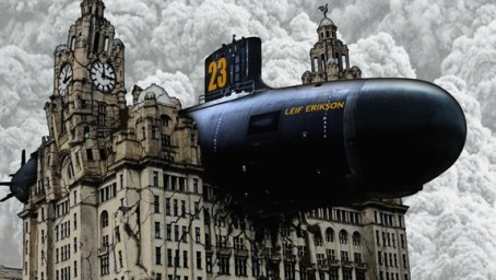 The Leif Erikson Lands On The Liver Building by Hagbard Celine