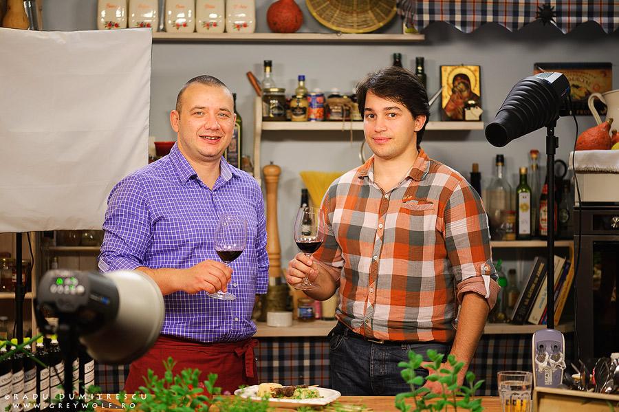fotografie cu Radu Dumitrescu și Marius Tudosiei la Sănătatea în bucate.