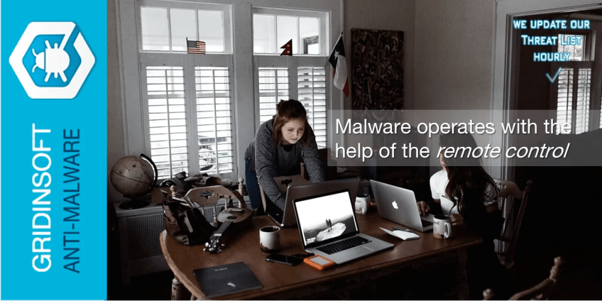 Malware oprates with the help of the remote control