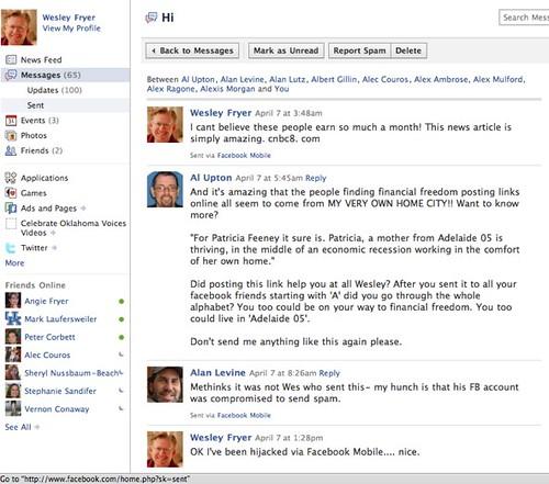 Facebook account hijacked