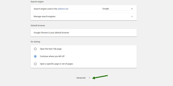 Disable push notifications in Chrome - step 1