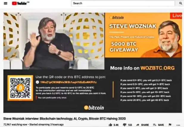Steve Wozniak sues YouTube