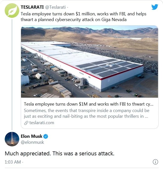 Million dollars for hacking Tesla