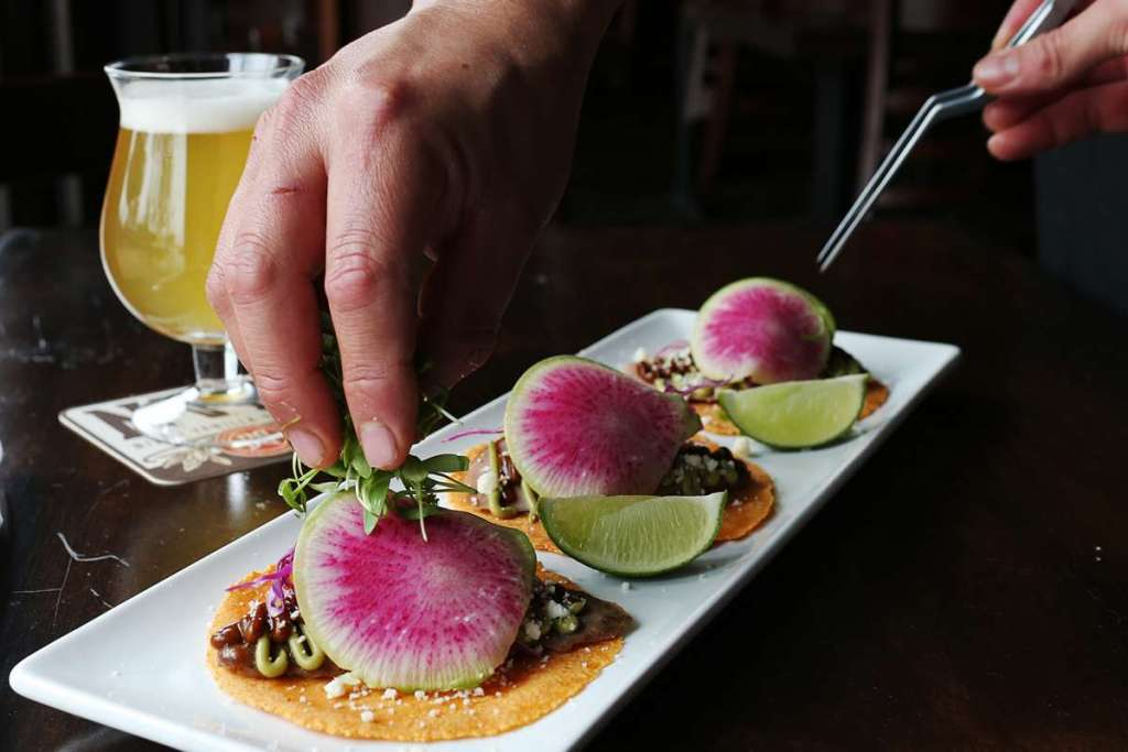 The rabbit tacos are a fan favorite at the Hoppy Monk.The rabbit tacos are a fan favorite at the Hoppy Monk.