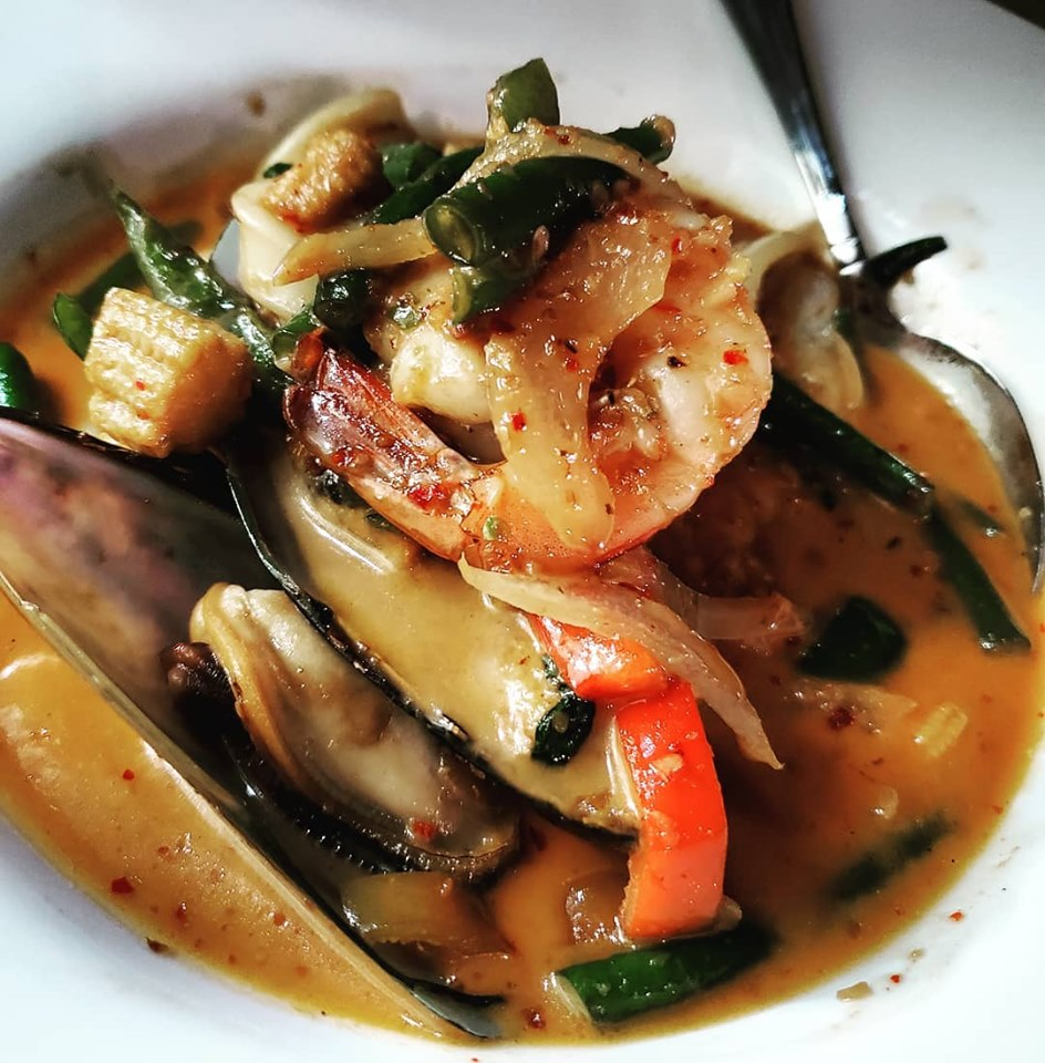 Delicious seafood dish at Coconut Thai Cuisine