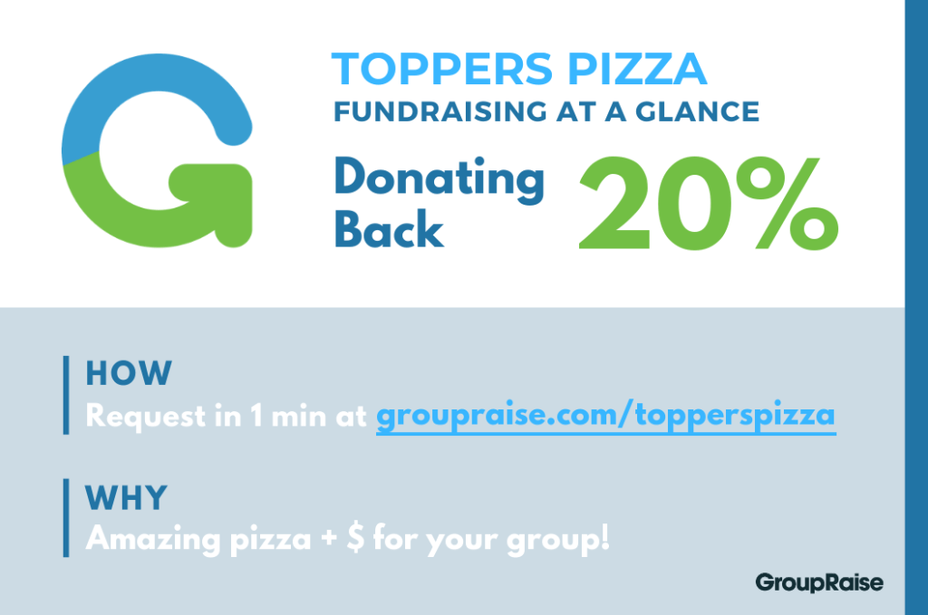 Infographic: Toppers Pizza fundraising at a glance