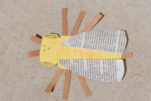 Honey bee paper model