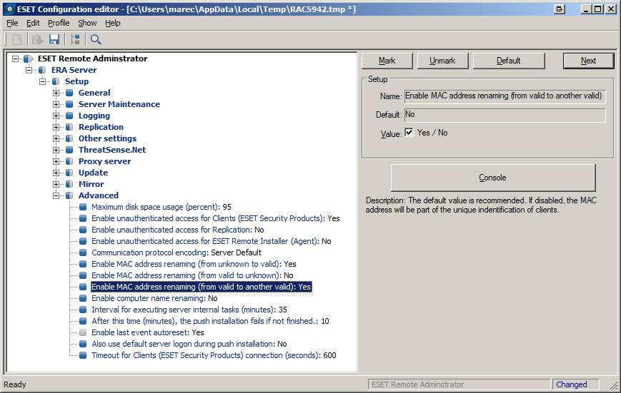 ESET/NOD32 Problem mit dem Remote Admin nach Update