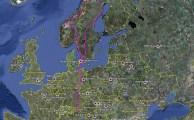 Streckenübersicht Norwegen