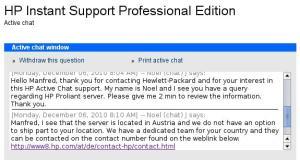 HP Support Chat, aber nicht bei Hardware Problemen in Österreich