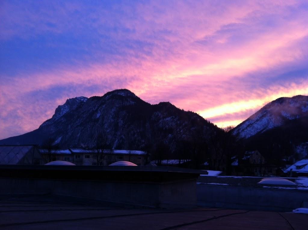 Kufsteiner Sonnenaufgang im Februar